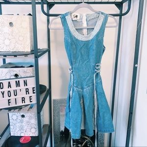 VINTAGE denim dress size small fit & flare
